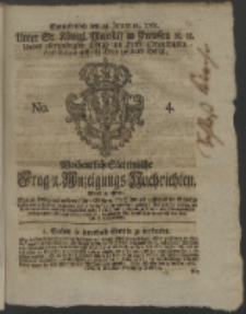 Wochentlich-Stettinische Frag- und Anzeigungs-Nachrichten. 1762 No. 4