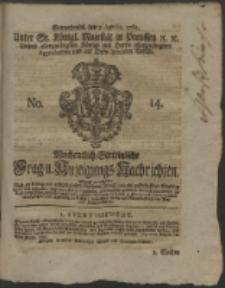 Wochentlich-Stettinische Frag- und Anzeigungs-Nachrichten. 1762 No. 14 + Anhang