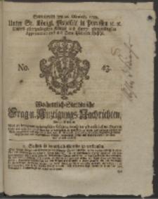 Wochentlich-Stettinische Frag- und Anzeigungs-Nachrichten. 1759 No. 43 + Anhang