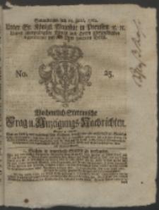 Wochentlich-Stettinische Frag- und Anzeigungs-Nachrichten. 1762 No. 25