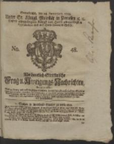 Wochentlich-Stettinische Frag- und Anzeigungs-Nachrichten. 1759 No. 48 + Anhang