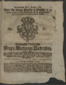 Wochentlich-Stettinische Frag- und Anzeigungs-Nachrichten. 1762 No. 32 + Anhang