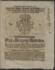 Wochentlich-Stettinische Frag- und Anzeigungs-Nachrichten. 1765 No. 4 + Anhang