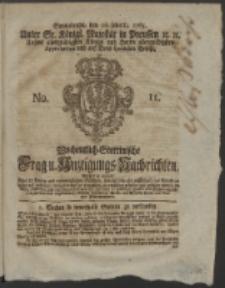 Wochentlich-Stettinische Frag- und Anzeigungs-Nachrichten. 1765 No. 11 + Anhang