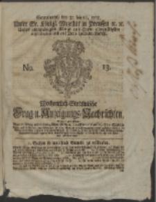 Wochentlich-Stettinische Frag- und Anzeigungs-Nachrichten. 1765 No. 13 + Anhang