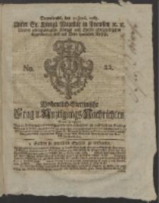Wochentlich-Stettinische Frag- und Anzeigungs-Nachrichten. 1765 No. 22 + Anhang