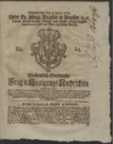 Wochentlich-Stettinische Frag- und Anzeigungs-Nachrichten. 1765 No. 24 + Anhang
