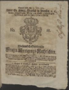 Wochentlich-Stettinische Frag- und Anzeigungs-Nachrichten. 1765 No. 28 + Anhang