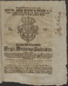 Wochentlich-Stettinische Frag- und Anzeigungs-Nachrichten. 1765 No. 29 + Anhang