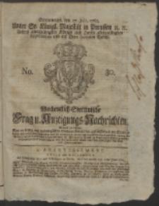 Wochentlich-Stettinische Frag- und Anzeigungs-Nachrichten. 1765 No. 30 + Anhang