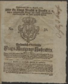 Wochentlich-Stettinische Frag- und Anzeigungs-Nachrichten. 1765 No. 32 + Anhang