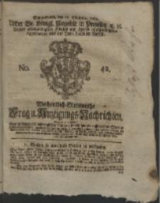 Wochentlich-Stettinische Frag- und Anzeigungs-Nachrichten. 1762 No. 42 + Anhang
