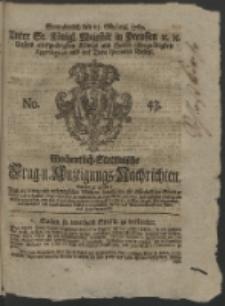 Wochentlich-Stettinische Frag- und Anzeigungs-Nachrichten. 1762 No. 43 + Anhang
