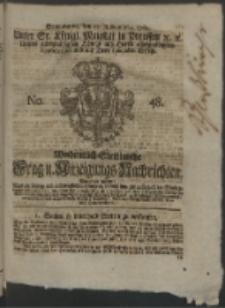 Wochentlich-Stettinische Frag- und Anzeigungs-Nachrichten. 1762 No. 48 + Anhang