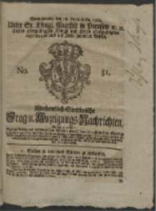 Wochentlich-Stettinische Frag- und Anzeigungs-Nachrichten. 1762 No. 51 + Anhang