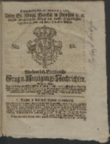 Wochentlich-Stettinische Frag- und Anzeigungs-Nachrichten. 1762 No. 52 + Anhang