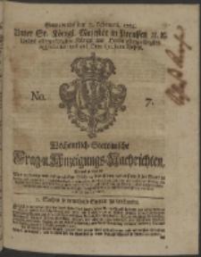 Wochentlich-Stettinische Frag- und Anzeigungs-Nachrichten. 1754 No. 7 + Anhang