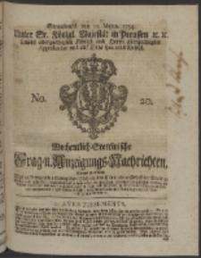 Wochentlich-Stettinische Frag- und Anzeigungs-Nachrichten. 1754 No. 20 + Anhang