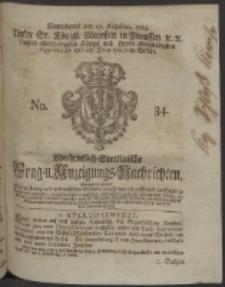 Wochentlich-Stettinische Frag- und Anzeigungs-Nachrichten. 1754 No. 34 + Anhang