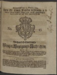 Wochentlich-Stettinische Frag- und Anzeigungs-Nachrichten. 1754 No. 43 + Anhang