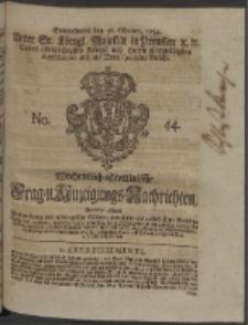 Wochentlich-Stettinische Frag- und Anzeigungs-Nachrichten. 1754 No. 44 + Anhang