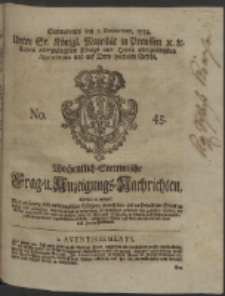 Wochentlich-Stettinische Frag- und Anzeigungs-Nachrichten. 1754 No. 45 + Anhang