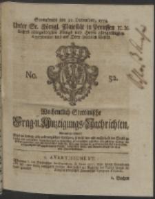 Wochentlich-Stettinische Frag- und Anzeigungs-Nachrichten. 1754 No. 52 + Anhang
