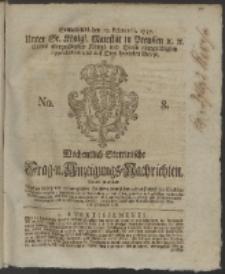 Wochentlich-Stettinische Frag- und Anzeigungs-Nachrichten. 1757 No. 8 + Anhang