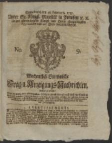 Wochentlich-Stettinische Frag- und Anzeigungs-Nachrichten. 1757 No. 9 + Anhang