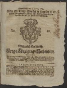 Wochentlich-Stettinische Frag- und Anzeigungs-Nachrichten. 1757 No. 10 + Anhang