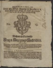 Wochentlich-Stettinische Frag- und Anzeigungs-Nachrichten. 1757 No. 13 + Anhang