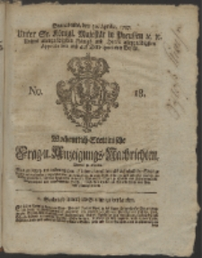 Wochentlich-Stettinische Frag- und Anzeigungs-Nachrichten. 1757 No. 18