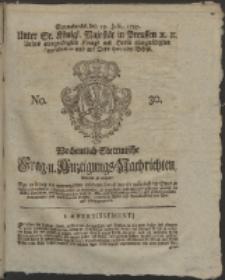 Wochentlich-Stettinische Frag- und Anzeigungs-Nachrichten. 1757 No. 30 + Anhang
