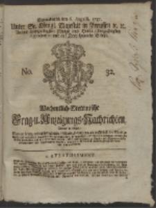 Wochentlich-Stettinische Frag- und Anzeigungs-Nachrichten. 1757 No. 32 + Anhang