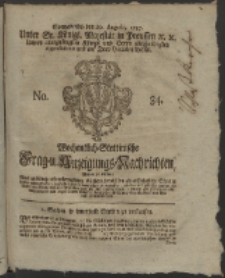 Wochentlich-Stettinische Frag- und Anzeigungs-Nachrichten. 1757 No. 34 + Anhang