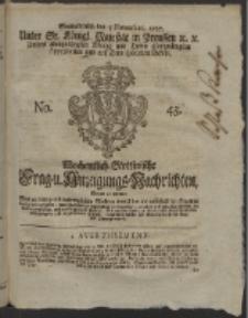 Wochentlich-Stettinische Frag- und Anzeigungs-Nachrichten. 1757 No. 45