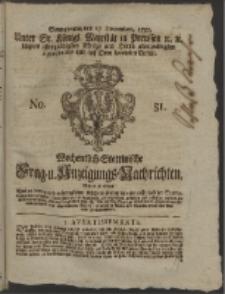 Wochentlich-Stettinische Frag- und Anzeigungs-Nachrichten. 1757 No. 51