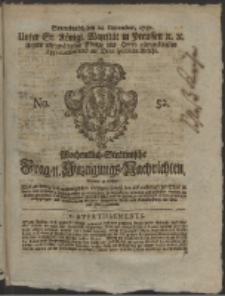 Wochentlich-Stettinische Frag- und Anzeigungs-Nachrichten. 1757 No. 52 + Anhang