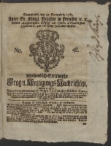 Wochentlich-Stettinische Frag- und Anzeigungs-Nachrichten. 1765 No. 48 + Anhang