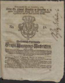 Wochentlich-Stettinische Frag- und Anzeigungs-Nachrichten. 1765 No. 52 + Anhang