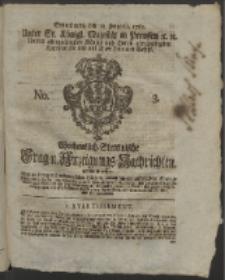Wochentlich-Stettinische Frag- und Anzeigungs-Nachrichten. 1760 No. 3 + Anhang
