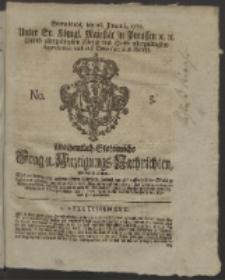 Wochentlich-Stettinische Frag- und Anzeigungs-Nachrichten. 1760 No. 5 + Anhang