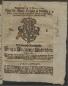 Wochentlich-Stettinische Frag- und Anzeigungs-Nachrichten. 1760 No. 8 + Anhang