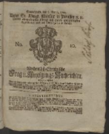Wochentlich-Stettinische Frag- und Anzeigungs-Nachrichten. 1760 No. 10 + Anhang