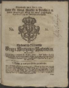 Wochentlich-Stettinische Frag- und Anzeigungs-Nachrichten. 1760 No. 11 + Anhang