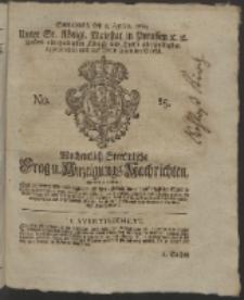 Wochentlich-Stettinische Frag- und Anzeigungs-Nachrichten. 1760 No. 15 + Anhang