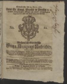 Wochentlich-Stettinische Frag- und Anzeigungs-Nachrichten. 1760 No. 22 + Anhang