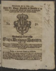 Wochentlich-Stettinische Frag- und Anzeigungs-Nachrichten. 1760 No. 30 + Anhang