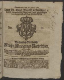 Wochentlich-Stettinische Frag- und Anzeigungs-Nachrichten. 1760 No. 31 + Anhang