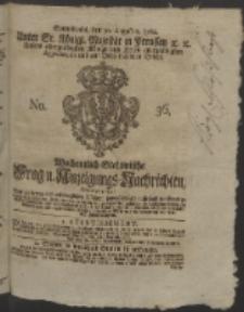 Wochentlich-Stettinische Frag- und Anzeigungs-Nachrichten. 1760 No. 36 + Anhang